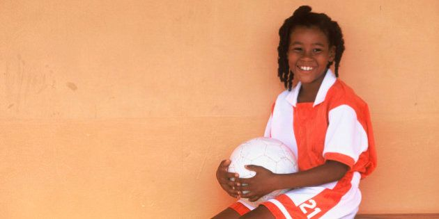 Girl with soccer
