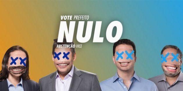 Voto nulo vira candidato, ganha jingle e até comício no segundo turno em Porto