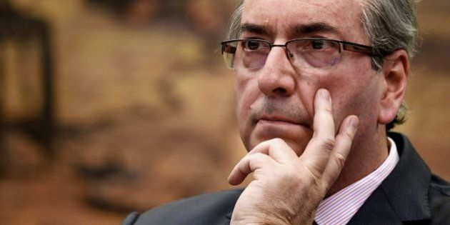 Brazilian deputy Eduardo Cunha, former president of the Lower House of Congress, is pictured during the...