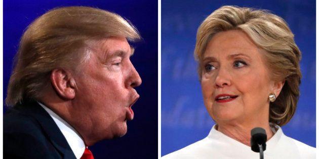 A combination photo shows Republican U.S. presidential nominee Donald Trump (L) and Democratic presidential...