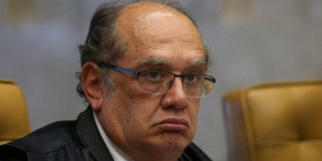Supreme Court Judge Gilmar Mendes attends an ordinary session of the Supreme Court in Brasilia, Brazil,...