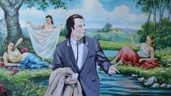 Este artista inseriu personagens da cultura pop em 'pinturas rejeitadas'. E ficou