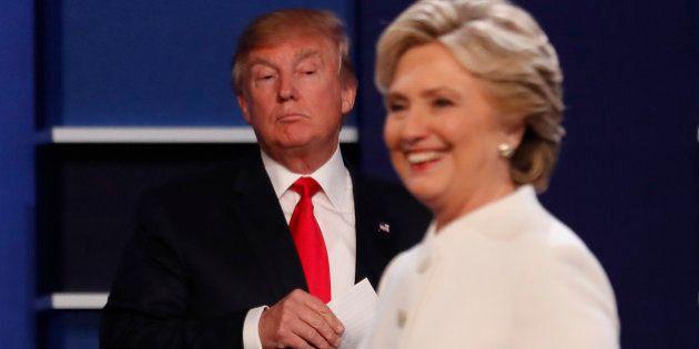 Republican U.S. presidential nominee Donald Trump and Democratic U.S. presidential nominee Hillary Clinton...