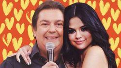 O dia em que Faustão mandou um beijo para 'Selena Gomez' ao