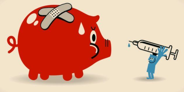 Vector illustration – Solution Of Troubled Finances