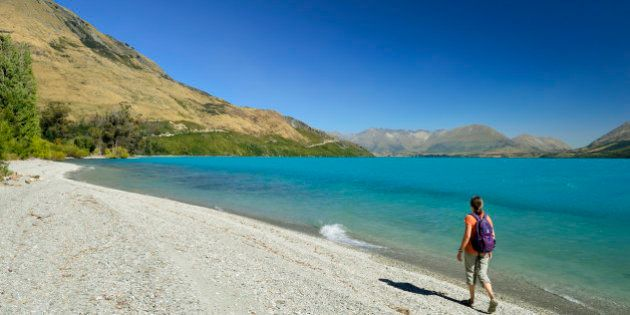 New Zealand, South Island, Otago region, the Lake Wakatipu between Queenstown and