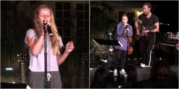 Filhos de peixe, peixinhos são: Prole de Chris Martin, do Coldplay, encanta nos microfones