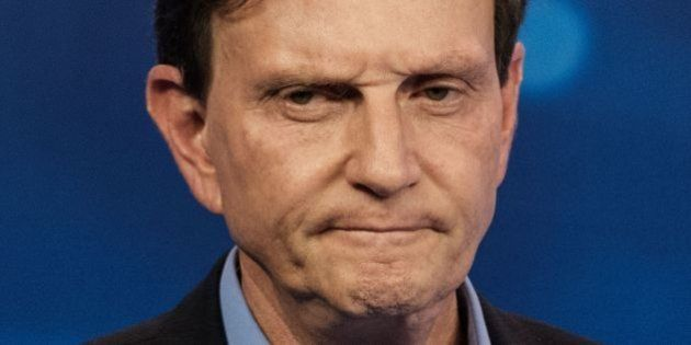 Rio de Janeiro's Mayoral candidate Evangelical senator Marcelo Crivella, from Brazilian Republican Party...