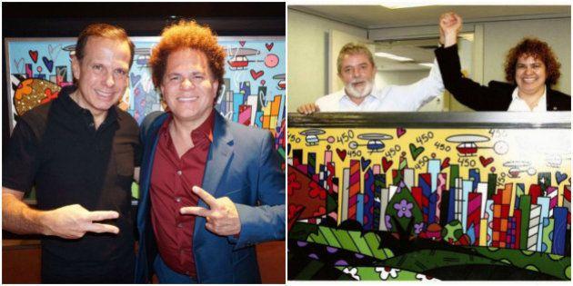 De Lula a Doria: Romero Britto presenteia prefeito de São Paulo com releitura de obra dada a