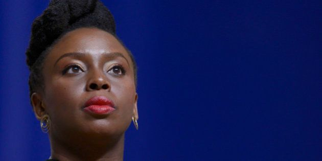 BALTIMORE, MD - MAY 18: Chimamanda Ngozi Adichie receives an honorary doctorate of Humane Letters from...