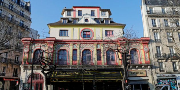 A general view shows the Bataclan concert hall before the visit of members of a committee investigating...