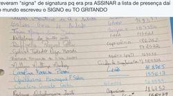 Alunos informam seus signos em vez de assinarem lista de presença e 'confusão' bomba nas