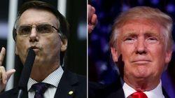Bolsonaro comemora vitória de Trump e deseja o mesmo para Brasil em