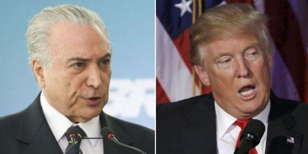 Temer diz ter certeza que 'nada muda' entre Brasil e EUA com vitória de