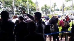 'PEC do Teto': Seguranças usam spray de pimenta para barrar estudantes no