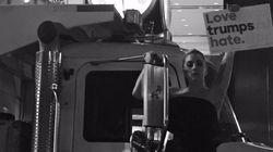 'Amor supera o ódio': Nas ruas de NY, Lady Gaga protesta contra novo