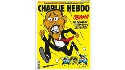 Capa do Charlie Hebdo traz Obama desesperado e perseguido pela