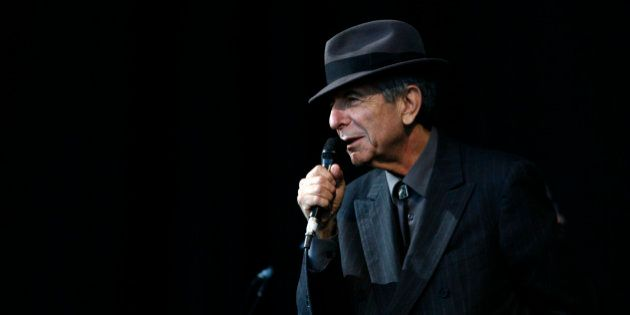 Canadian singer-songwriter Leonard Cohen performs at the Glastonbury Festival 2008 in Somerset in south...