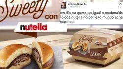 McDonald's lança sanduíche de Nutella na Itália e as pessoas estão