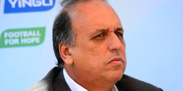 RIO DE JANEIRO, BRAZIL - JUNE 12: Luiz Fernando Pezão, vice-governor of Rio de Janeiro speaking to the...