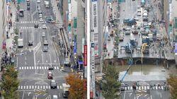 Acredite: Esta cratera gigante em avenida no Japão foi consertada em apenas uma