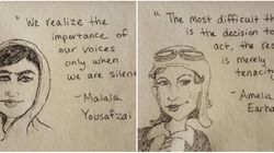 Um empoderamento por dia: Esta mãe usou guardanapos para ensinar autoestima à sua