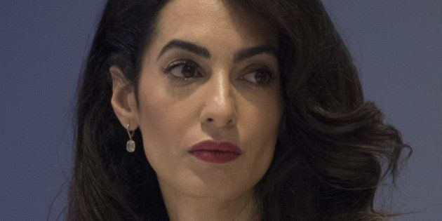 Lawyer Amal Alamuddin Clooney attends the CEO Roundtable at the United Nations General Assembly in New...