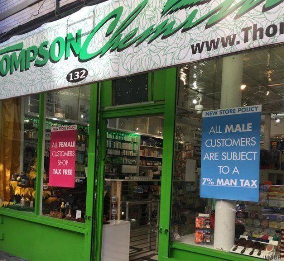 Uma farmácia em Nova York anunciou 'imposto para homens' e eles ficaram