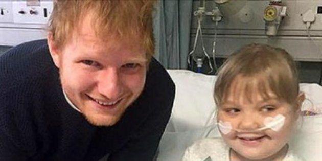 Ed Sheeran realizou o sonho dessa fã ao visitá-la no