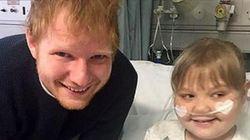 'Você a mantém viva': Ed Sheeran realizou o sonho dessa fã ao visitá-la no