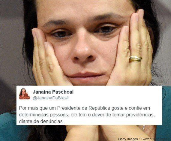 Janaina Paschoal está decepcionada com Temer por ele 'segurar' ministro: 'Tem o dever de tomar
