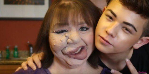 Este jovem usou o poder da maquiagem para elevar a autoestima de sua