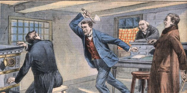 Scene from Silver Blaze, short story written by British author Arthur Conan Doyle (1859-1930), Illustration from French newspaper Le Petit Parisien, March 15, 1908, Private Collection, (Photo by Leemage/UIG via Getty Images)