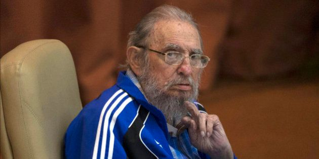 FILE - In this April 19, 2016 file photo, Fidel Castro attends the last day of the 7th Cuban Communist...