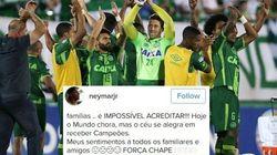 #ForçaChape: Neymar, Cristiano Ronaldo e outros jogadores lamentam