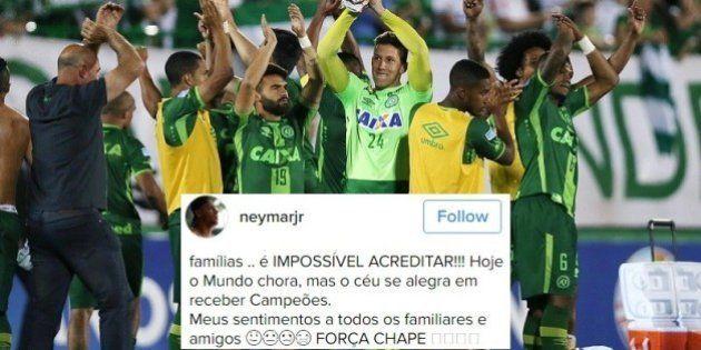 #ForçaChape: Neymar, Cristiano Ronaldo, outros jogadores e clubes lamentam