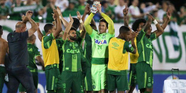 Football Soccer - Chapecoense v San Lorenzo - Copa Sudamericana semifinals - Arena Conda stadium, Chapeco,...