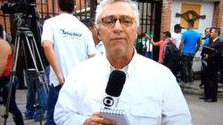 Repórter da Globo se emociona ao citar morte de colega no 'Jornal