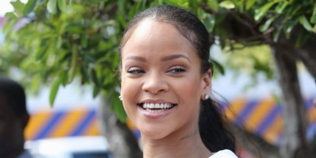 BRIDGETOWN, BARBADOS - DECEMBER 01: Rihanna attends the 'Man Aware' event held by the Barbados National...
