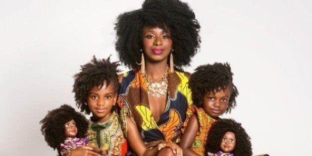 Negras e crespas: Esta mãe criou bonecas para que suas filhas se sentissem