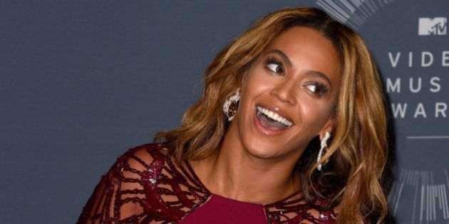 INGLEWOOD, CA - AUGUST 24: Recording artist Beyoncé poses in the press room during the 2014 MTV Video...