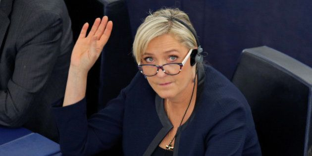 Marine Le Pen, French National Front (FN) political party leader and Member of the European Parliament/...