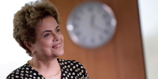 Brazil's President Dilma Rousseff smiles during a meeting with Secretary General of the Organization...