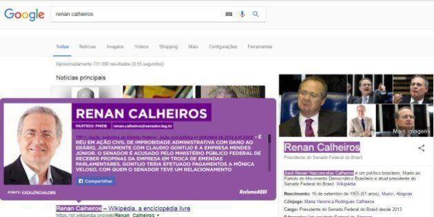 Extensão do Google Chrome ressalta nomes de políticos