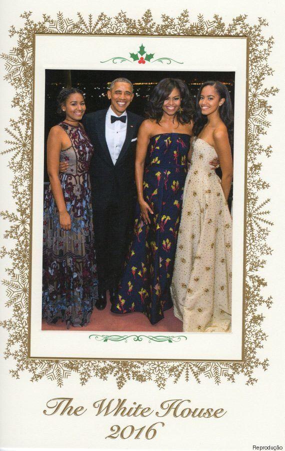 Família Obama envia o último cartão de Natal da Casa