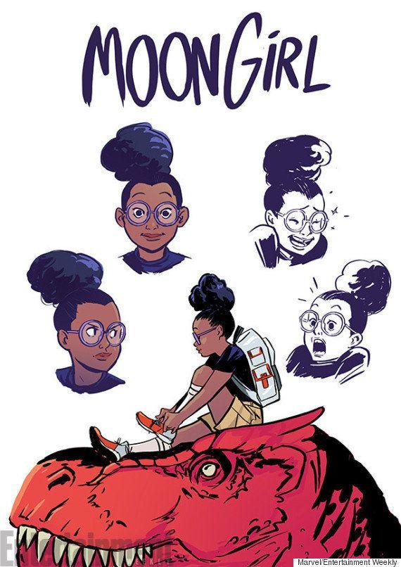 Moon Girl, nova heroína da Marvel, é negra, pré-adolescente e nerd