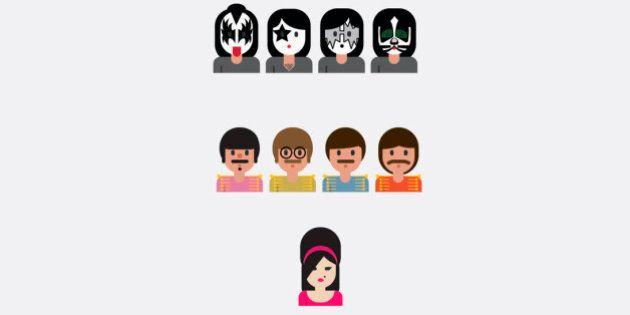 De Amy Winehouse a The Beatles: brasileiro cria emojis para diferentes ídolos da