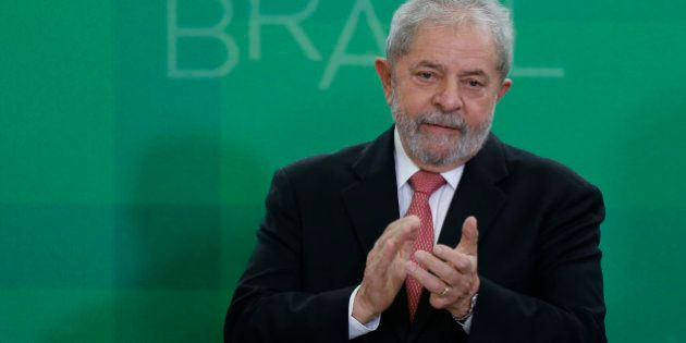 BRASILIA, BRAZIL - MARCH 17: Brazil's former president, Luiz Inacio Lula da Silva, is sworn in as the...