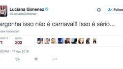 Este tweet da Luciana Gimenez resume este domingo na política