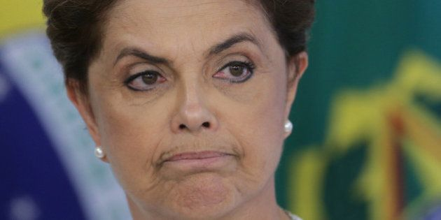 Brazil's President Dilma Rousseff attends a meeting on state land issues, at Planalto presidential palace...